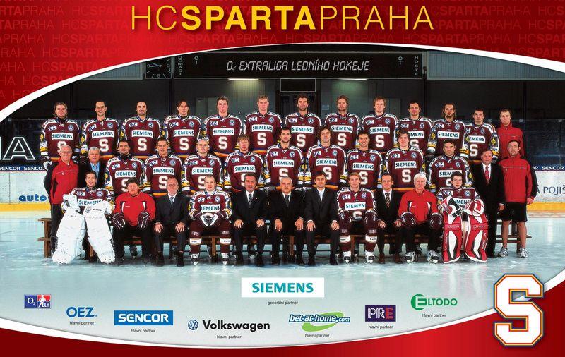 Tým Sparty v sezoně 2007/2008