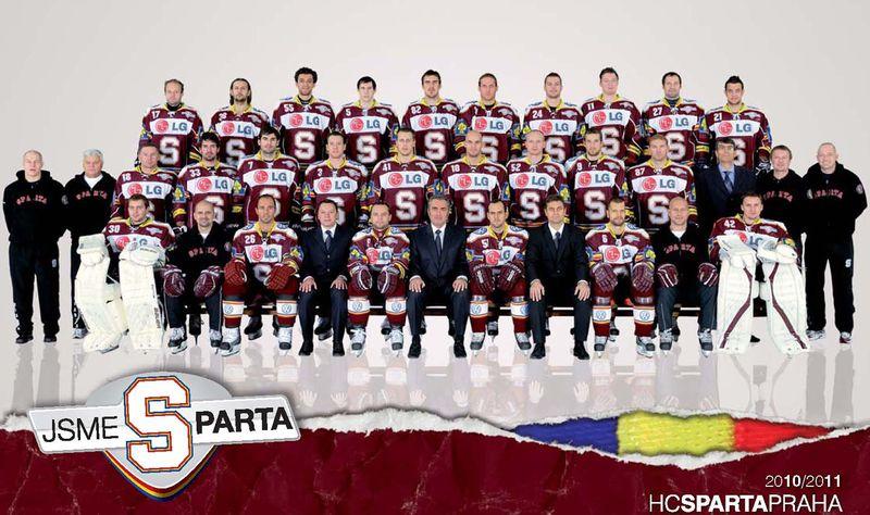 Tým Sparty v sezoně 2010/2011